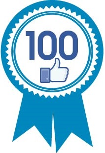 100 likes reached on Facebook